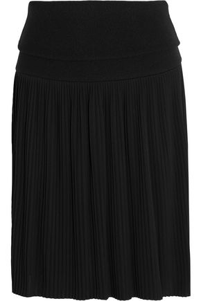 GIVENCHY Pleated jersey mini skirt