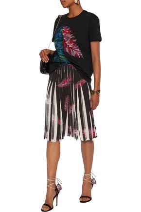 EMILIO PUCCI Pleated printed stretch silk-chiffon skirt