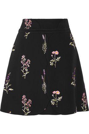 GIAMBATTISTA VALLI Embroidered crepe mini skirt