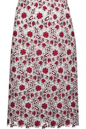 GIAMBATTISTA VALLI Guipure lace skirt