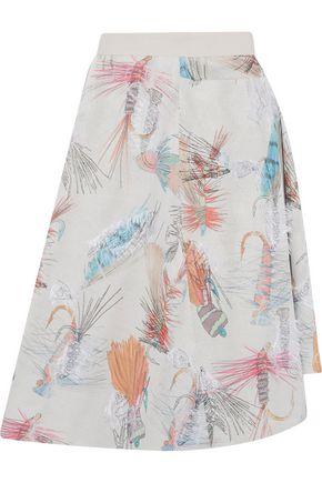 CHALAYAN Printed fil coupé crepe skirt
