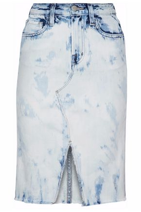 J BRAND Bleached denim skirt