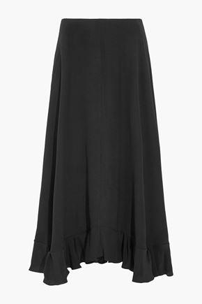 CHLOÉ Ruffled silk-crepe maxi skirt