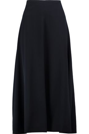 JIL SANDER Pleated wool-twill midi skirt