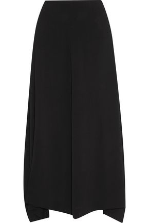JIL SANDER Pleated crepe midi skirt
