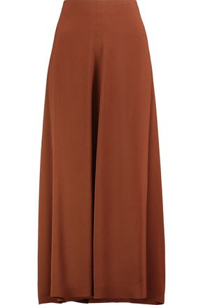 JIL SANDER Pleated crepe midi skirt