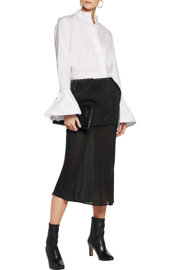 Layered studded cloqué and jacquard midi skirt | MAISON MARGIELA | Sale up  to 70% off | THE OUTNET