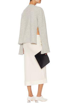 •ELLERY• Tammy Gun crepe midi skirt