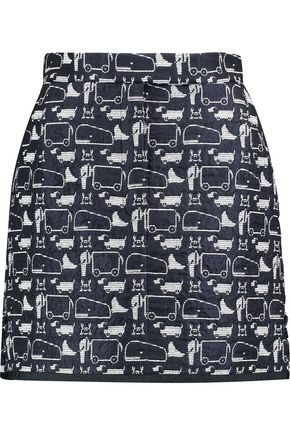 THOM BROWNE Jacquard-knit mini skirt