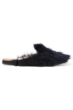 HELMUT LANG Faux fur slippers