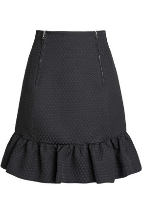 SANDRO Jacquard mini skirt