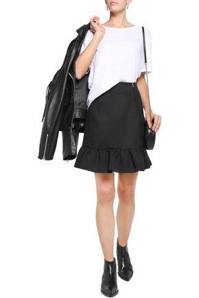 SANDRO Jacquard mini skirt