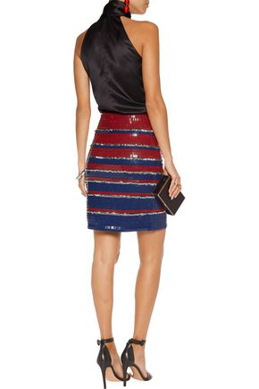 LANVIN Embellished cotton mini skirt