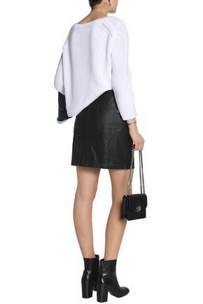 RAG & BONE Dive leather mini skirt