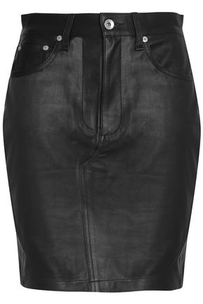 RAG & BONE Dive leather mini skirt