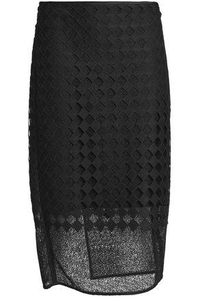 DIANE VON FURSTENBERG Embroidered woven pencil skirt
