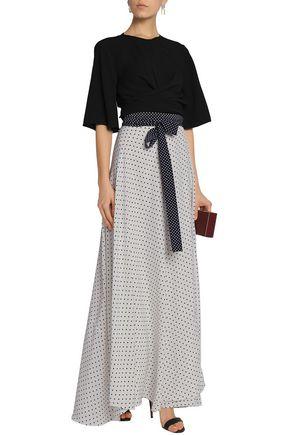 ALEXIS Printed chiffon wrap maxi skirt
