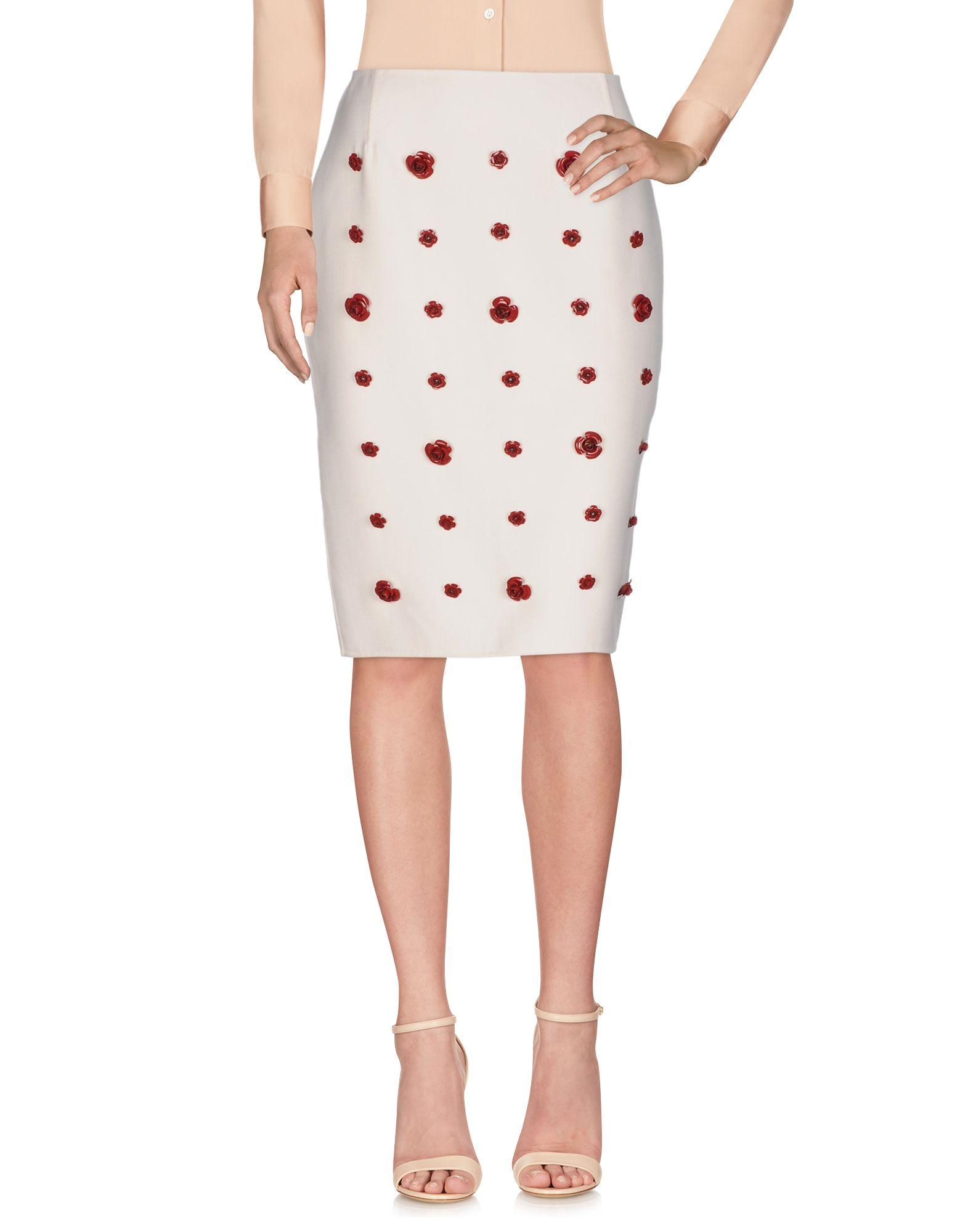ESME VIE Knee Length Skirt in Ivory