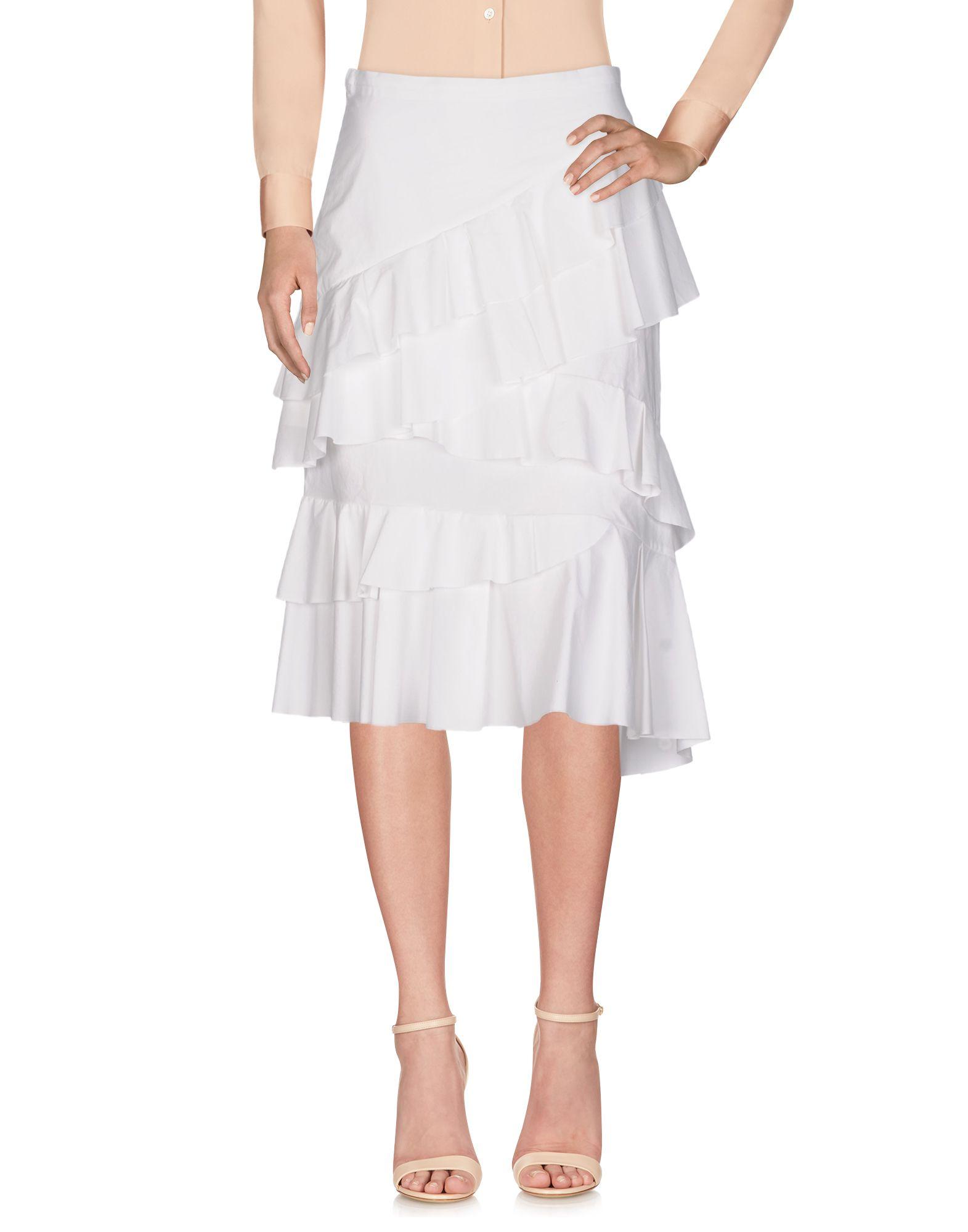 《送料無料》PINKO レディース 7分丈スカート ホワイト 38 コットン 100%