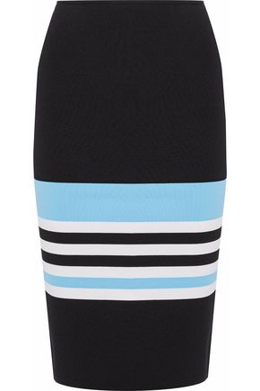 NICHOLAS Color-block ponte pencil skirt