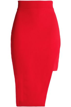 NICHOLAS Asymmetric knitted skirt