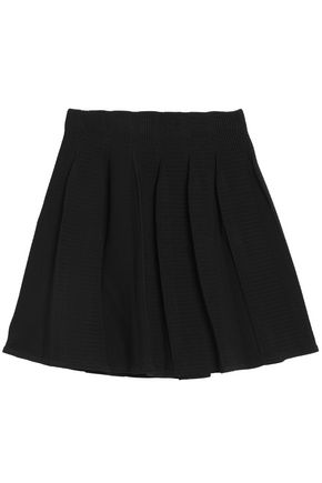SANDRO Pleated knitted mini skirt