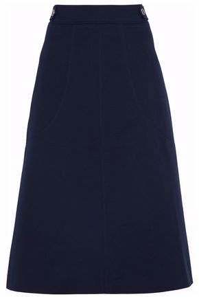 VANESSA SEWARD Cotton-twill midi skirt