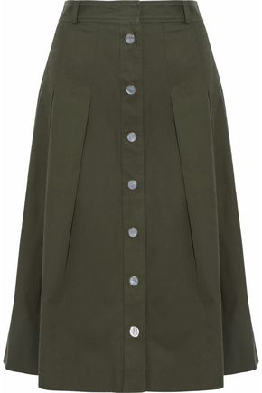 VANESSA SEWARD Pleated cotton-twill skirt