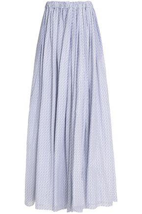 EMILIA WICKSTEAD Gathered printed cotton maxi skirt