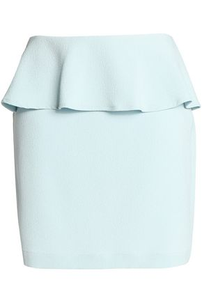 GANNI Peplum crepe mini skirt