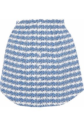 OPENING CEREMONY Printed cotton mini skirt