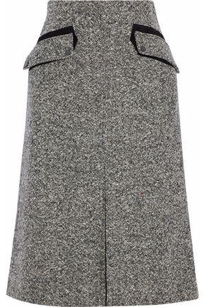 BELSTAFF Pleated tweed midi skirt