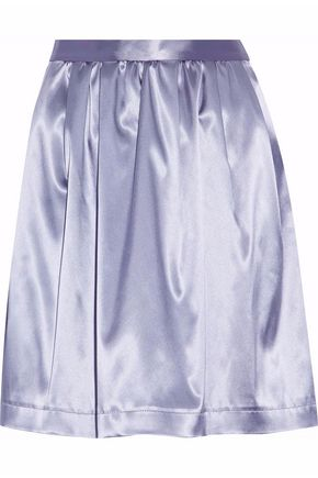 MSGM Gathered satin mini skirt