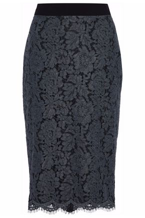 MSGM Corded lace pencil skirt