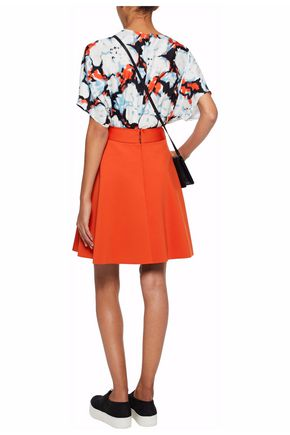 MSGM Pleated stretch-ponte mini skirt