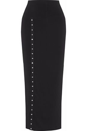 NORMA KAMALI Embellished jersey maxi skirt