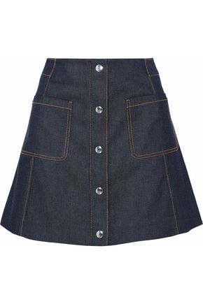 McQ Alexander McQueen Pleated denim mini skirt