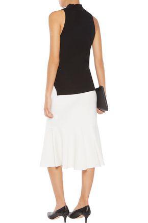 IRIS & INK Donna fluted merino wool midi skirt