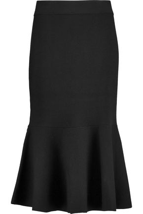 IRIS & INK Donna merino wool midi peplum skirt