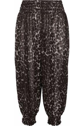 NORMA KAMALI Leopard-print chiffon tapered pants