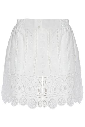 OPENING CEREMONY Broderie anglaise cotton mini skirt