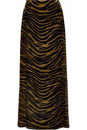 ROBERTO CAVALLI Printed velvet maxi skirt