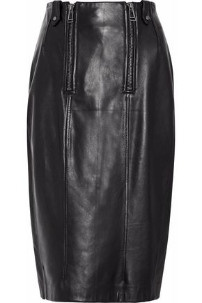 Belstaff WOMAN LEATHER SKIRT BLACK