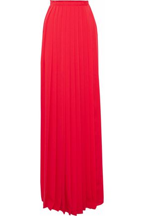 LANVIN Pleated chiffon maxi skirt