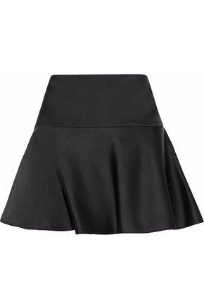 BELSTAFF Fluted silk-satin mini skirt