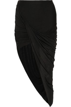 HELMUT LANG Asymmetric stretch-jersey skirt