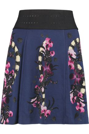 JUST CAVALLI Printed jersey mini skirt
