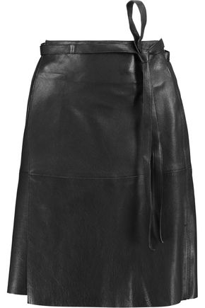 ISABEL MARANT Coy belted leather mini wrap skirt