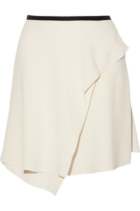 ISABEL MARANT Wrap-effect crepe mini skirt