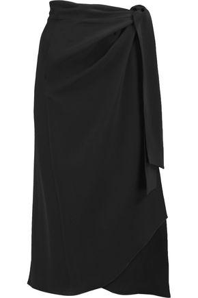 ISABEL MARANT Bezak satin-crepe wrap skirt